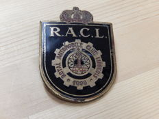 Beautiful Vintage RACL Royal Automobile Club Liegeois Enamel Car Badge Auto Emblem