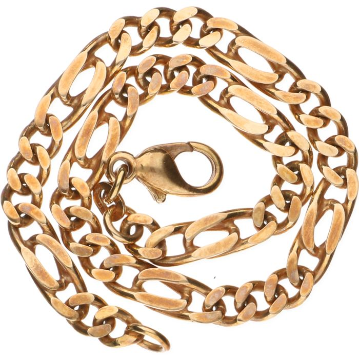 14 kt yellow gold curb link bracelet - Length: 21 cm