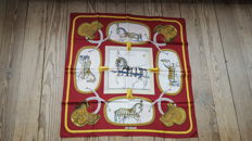 Collector's Scarf: Hermès – 'Grand Apparat' (Pomp and Circumstance) designed by Jacques Eudel, in good condition.