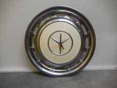 Original Vintage Mercedes Benz Chrome Hub Cap Clock in Good Working Order