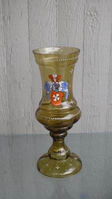 Large Wine Goblet - Historicism Student Glass, Germany around 1910-1920