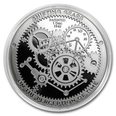 USA - North American Mint - T.I.M.E - Shifting Gears - Clock / Clockwork - 1 oz of 999 Silver - with Serial Number - Edition of only 10,000 pieces