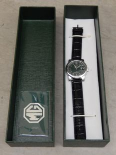 Vintage Rare MG Quartz Edition Watch From Main Dealers with Leather Strap and Plastic Still on Face and Rear