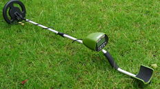 Metal Detector Goldhunter - digital, with an open waterproof search coil