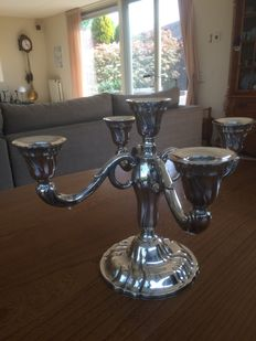 5 armed silver candle stand Wilkens (Germany) height 26 cm, weight 890 gr. gross