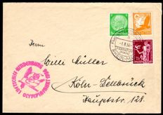 German Empire - 1936 - zeppelin post from the Olympic journey with LZ 129, Sieger 427 B