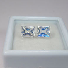1.60 Ct - Blue Moonstone Pair