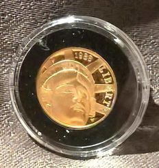 United States - 5 Dollars 1986 '100th Anniversary of Statue of Liberty' in original case - Gold