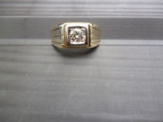 Gold (pinky) ring, 14 kt, 0.35 ct, size 18.5 mm