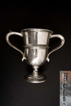Silver two handled trophy cup - Mappin & Webb - Sheffield - 1931