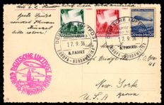 German Empire - 1936 - zeppelin post from the 8th North American journey, Sieger 437 A