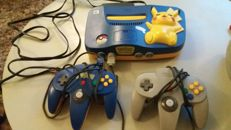 Nintendo 64 Pokemon edition and an extra controller
