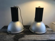 Old factory lamps, vintage industrial
