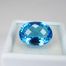 Swiss Blue Topaz - 10.42 ct