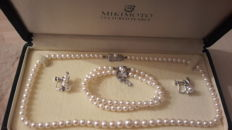 MIKIMOTO - Ladies fresh water pearl set 4.5 to 7.5 mm