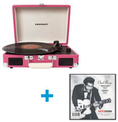 Crosley Cruiser Turntable Pink + Exclusive Single Chuck Berry ‎– Johnny B. Goode