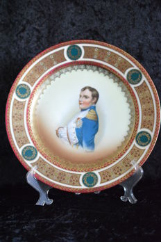 Old Vienna Napoleon portrait plate - very beautiful