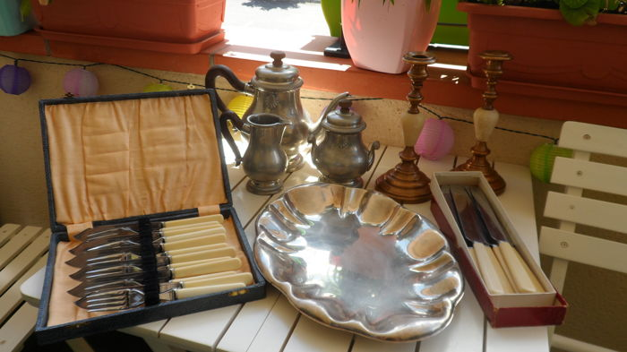 Assorted Lot of vintage Silver Plated tableware