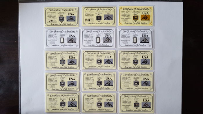 ACB Collection Investment Pack with Certificates of Authenticity