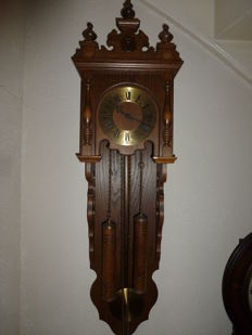 Wall clock made of oak - 1960s or 1970s