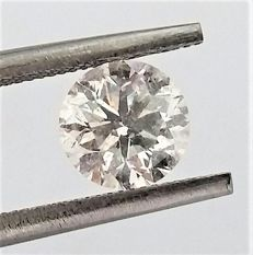 Round Brilliant Cut  - 1.24 carat   -  E color - SI2 clarity - Natural Diamond - Comes With IGL Certificate + Laser Inscription On Girdle