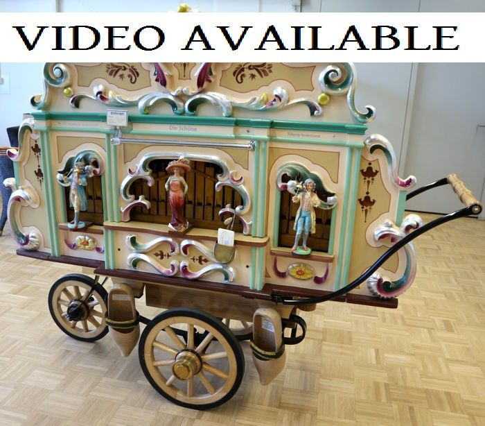 26-key cardboard music score - Dutch street organ - year 2015 - VIDEO AVAILABLE