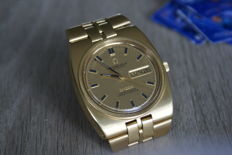 Complete 18 kt gold Omega Constellation Auto, +/- 1980