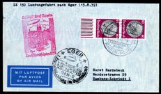 German Reich - 1939 - Zeppelin post, Germany journey, with LZ 130, landing journey to Eger, Sieger 462