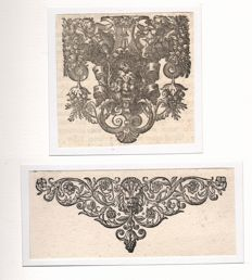Collection of eleven wood engravings from the Antwerp Baroque some at Plantin-Moretus - ca 1650 and later