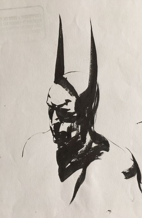 Original Sumi Brush Drawings of Batman