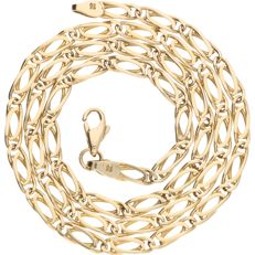 14 kt yellow gold link necklace –