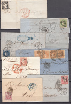 Spain 1850/1867 - Lot of 20 letters and covers from the Isabel II period.
