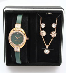 Pierre Cardin – Ladies' watch – Necklace and earrings – Gift set – Brand new, unworn