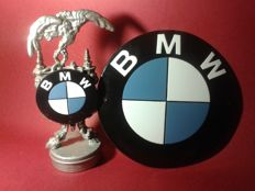"Set. ""Only for Eagles"" - BMW sports trophy + free: BMW enamel. MBW Advertising. BMW.Vintage logo - 1986/1985"