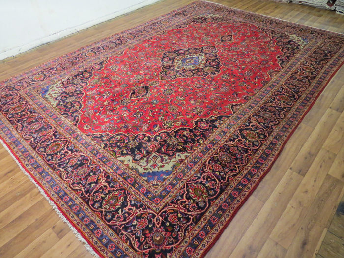 Wonderfully beautiful Persian carpet Kashan/Iran 436 x 308 cm, palace carpet, end of the 20th century. Excellent condition royal Kashan, XXL oversized