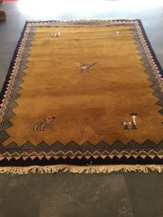 Gabbeh 20th century hand-knotted 237 x 176