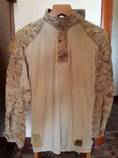 Amazing Original and Used USMC IRAQ & AFGHANISTAN Marpat Frog Combat  Shirt (Flame Resistant Organizational Gear)