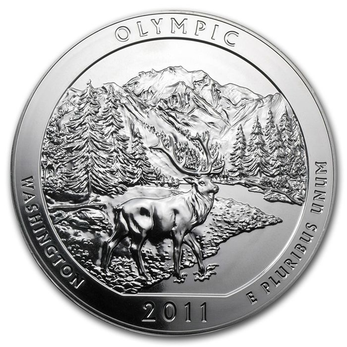 United States - Quarter Dollar 2011 'Olympic National Park' – 5 oz silber