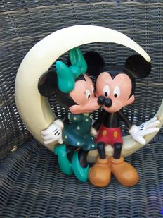 Disney, Walt - Figure - Mickey Mouse and Minnie Mouse on the moon - 1980s