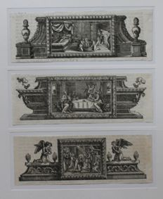 Collection of ten French woodcuts by Jean Papillon (1661-1725) and others - between 1620 and 1700