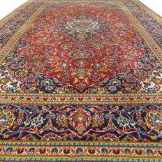 """Keshan – 331 x 221 cm – """"large Persian rug in beautiful condition"""" – with certificate"""