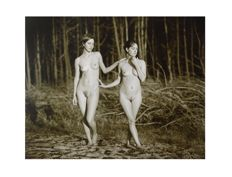 Art print ; Jock Sturges - Nude Girls in the Forest - 2012