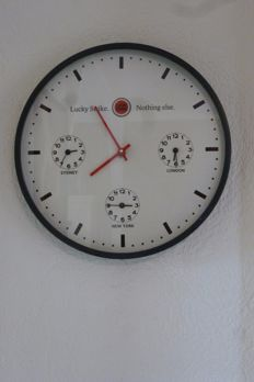 Wall clock Lucky Strike - 2nd half 20th century