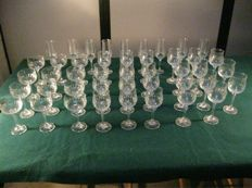 Lot 44 crystal glasses 70 ' Italy