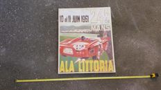 1961 Le Mans racing car on canvas Ala Littoria Porsche Jaguar BMW