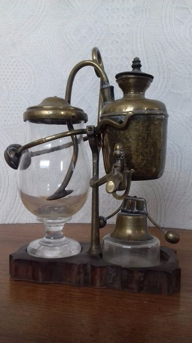 Antique French compensation siphon coffee maker