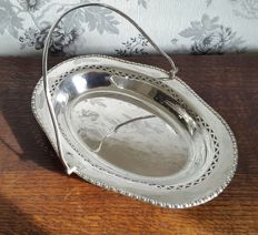 Silver plated Fruit/Bread basket with handle by James Deakin & Sons