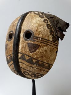 Old African initiation mask - KUBA - D.R. Congo