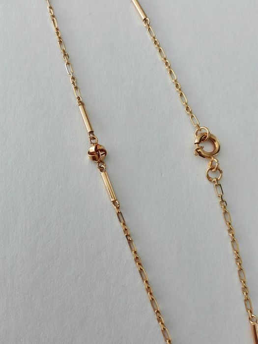 19.25kt 800 gold necklace – 51cm in length