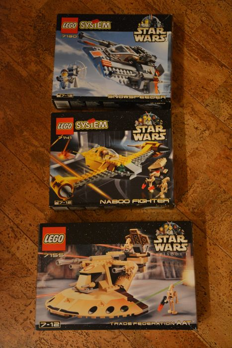 Starwars - 7130 + 7141 + 7155 - Snowspeeder + Naboo Fighter + Trade Federation AAT